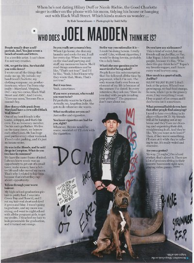 WAHEED'S CAPONE SCH-BH PHOTO SHOOT WITH JOEL MADDEN IN THE MAY 2007 EDITION OF THE BLENDER MAGAZINE